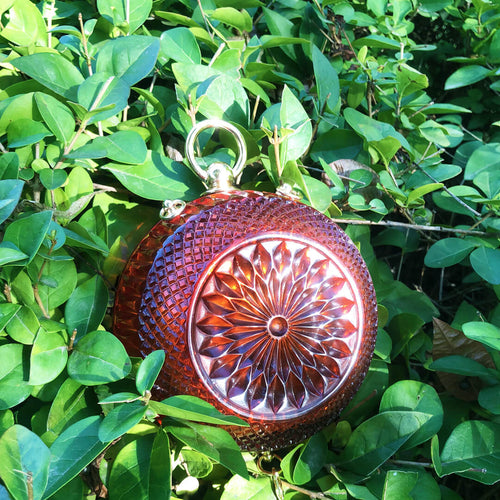 SAMPLE SALE Hand Carved Sphere Clutch Amber