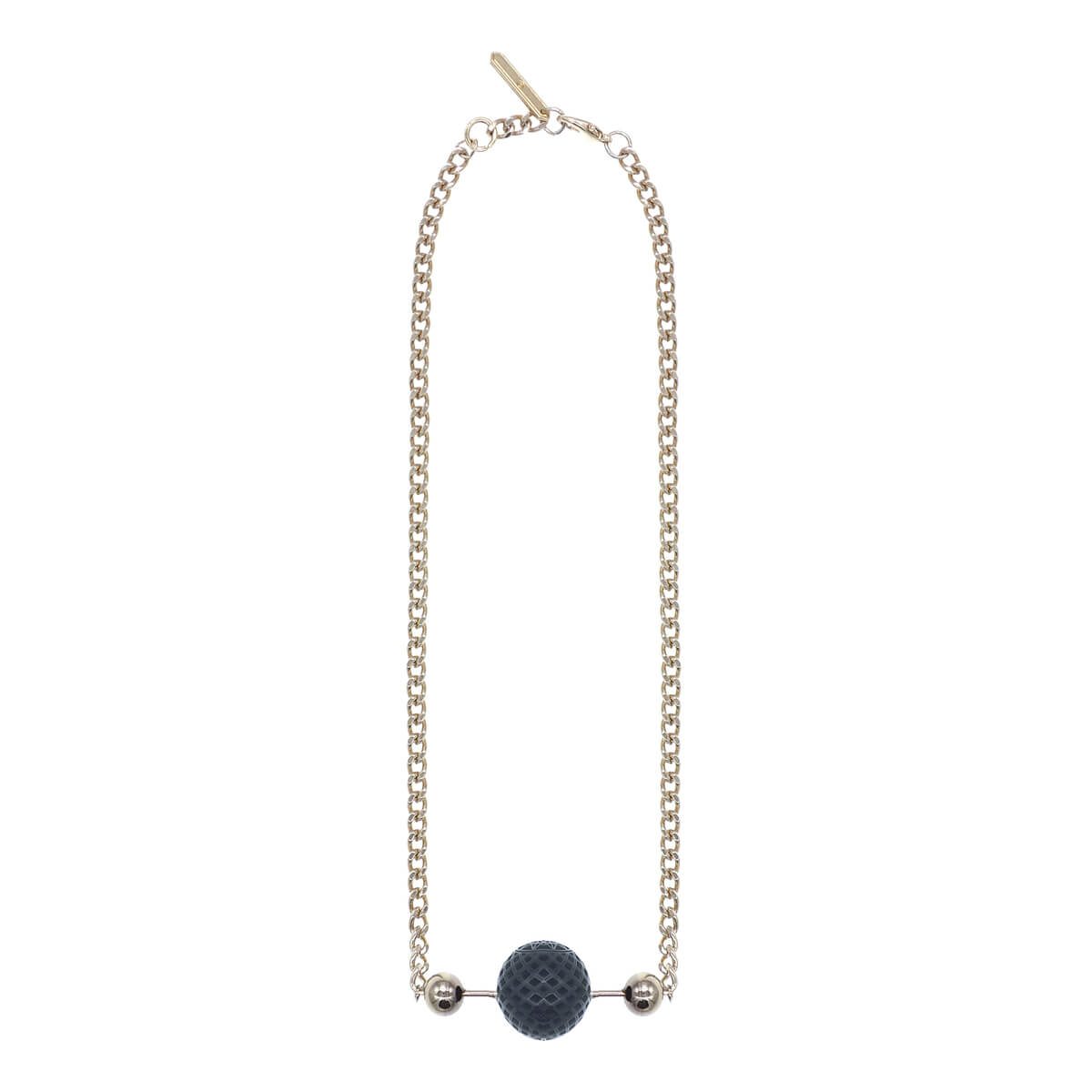 SAMPLE SALE Single Bead Bar Necklace Black