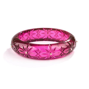 PRE-ORDER Studded Crystal Bangle Deep Purple