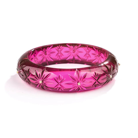 NEW IN Studded Crystal Bangle Deep Purple
