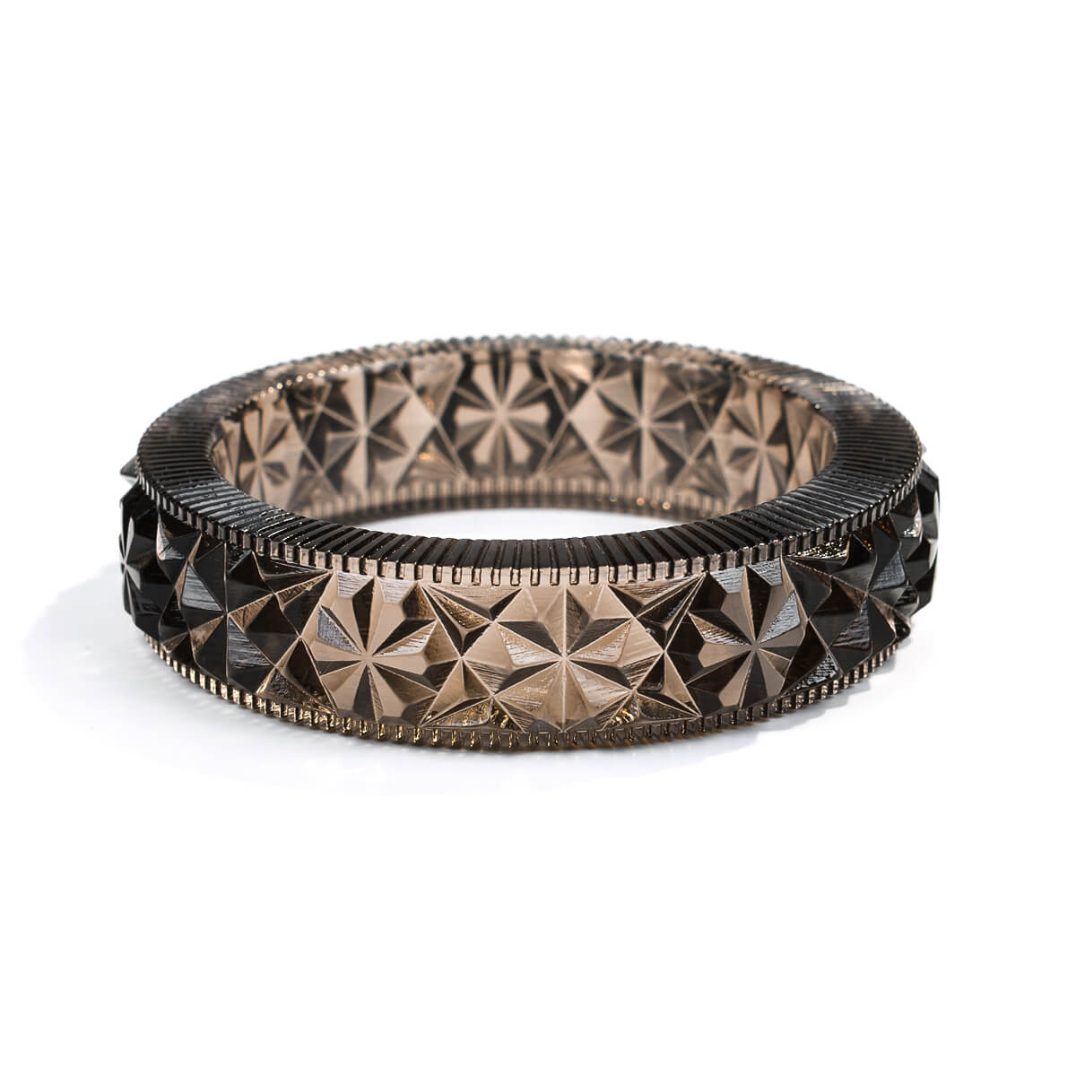 Faceted Bangle Dark Grey