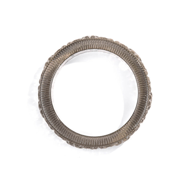Faceted Bangle Light Grey