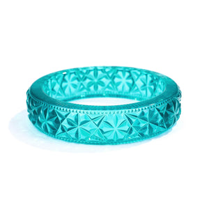 Faceted Bangle Turquoise