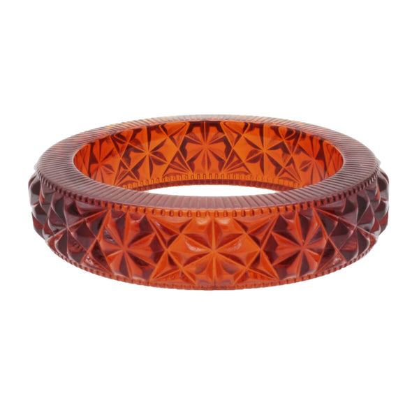 Faceted Bangle Amber
