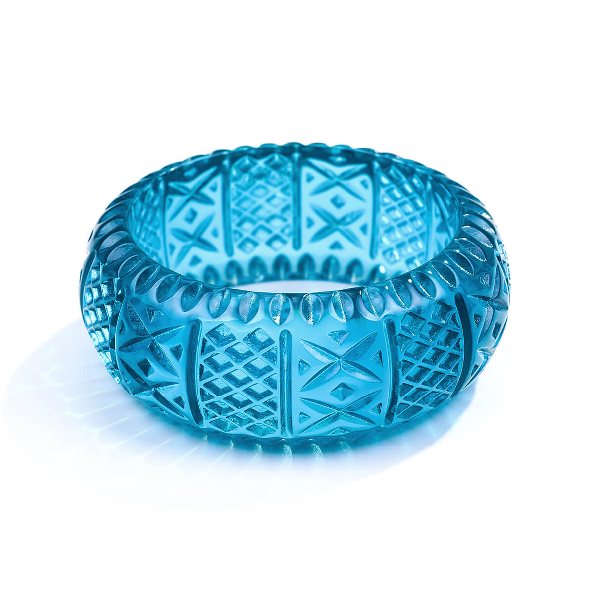 NEW IN Frosted Bangle Aqua