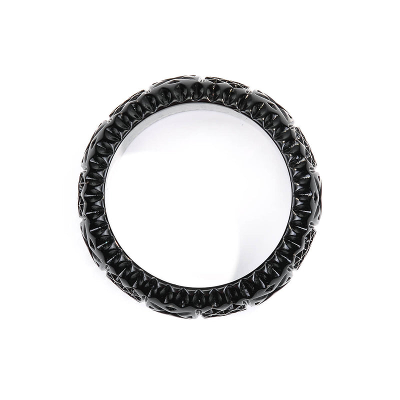 Frosted Bangle Dark Grey