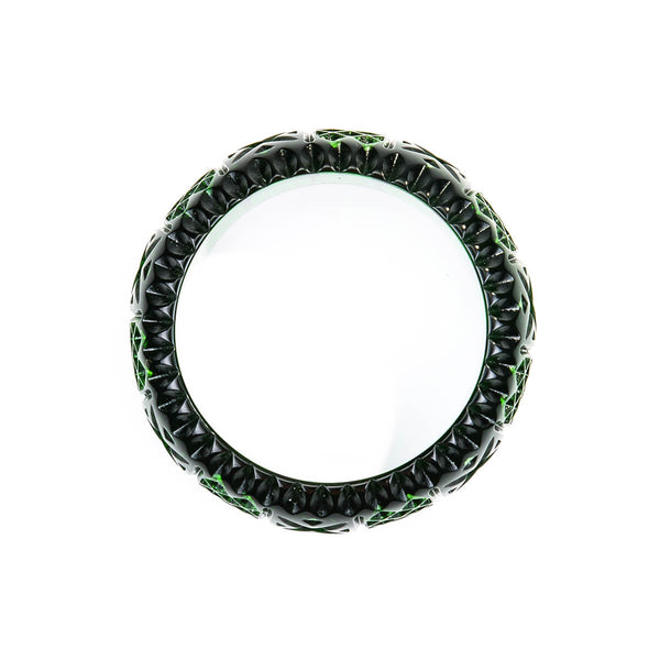 Frosted Bangle Emerald Green