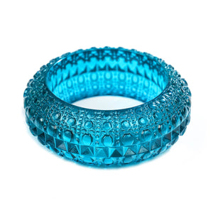 NEW IN Wide Bubble Bangle Aqua