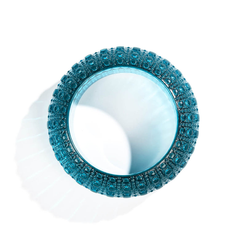 Wide Bubble Bangle Aqua