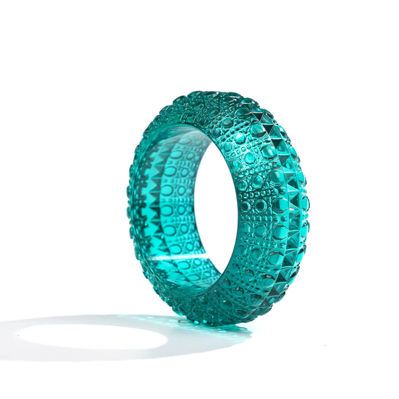 Wide Bubble Bangle Turquoise
