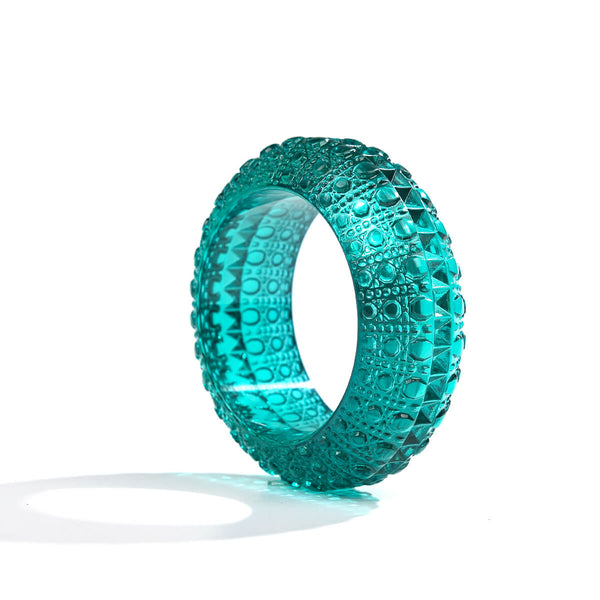 NEW IN Wide Bubble Bangle Turquoise