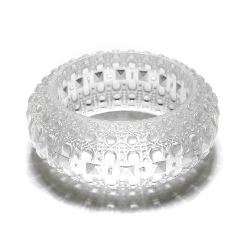 SAMPLE SALE Wide Bubble Bangle Vintage Clear