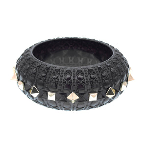 Studded Bubble Bangle Black