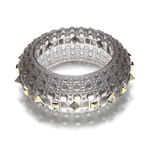 SAMPLE SALE Studded Bubble Bangle Light Grey
