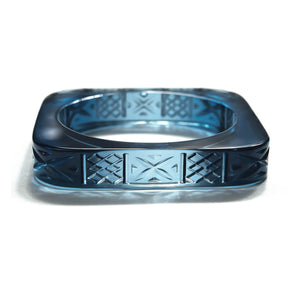 PRE-ORDER Slim Square Bangle Classic Blue