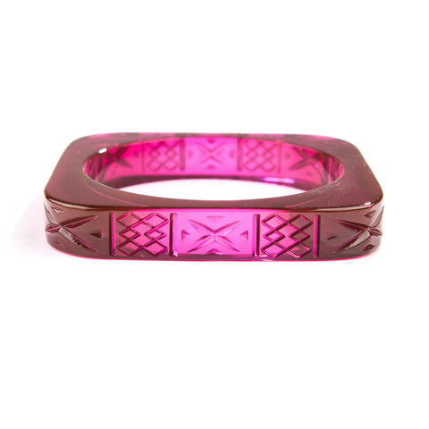 PRE-ORDER Slim Square Bangle Deep Purple