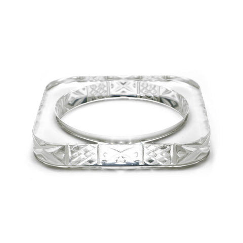 Slim Square Bangle Vintage Clear