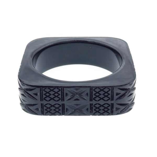 Square Bangle Black