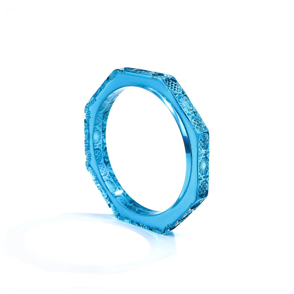 Slim Octagon Bangle Aqua