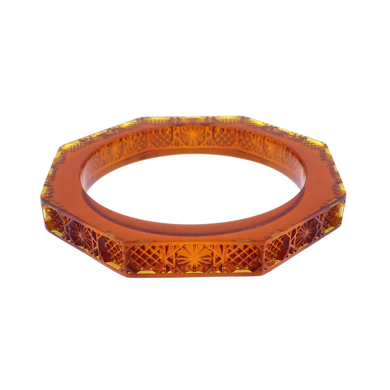 Slim Octagon Bangle Amber