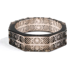 Octagon Bangle Dark Grey