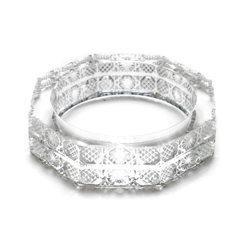 Octagon Bangle Vintage Clear