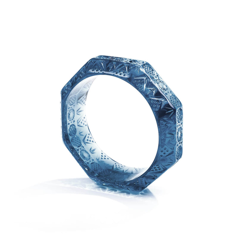 NEW IN Etched Octagon Bangle Classic Blue