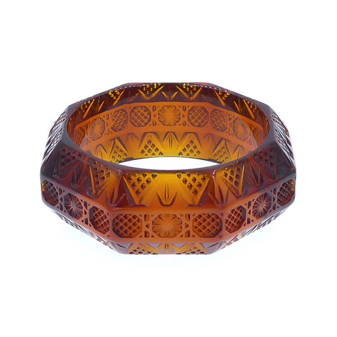 douglaspoon hand carved resin bangle