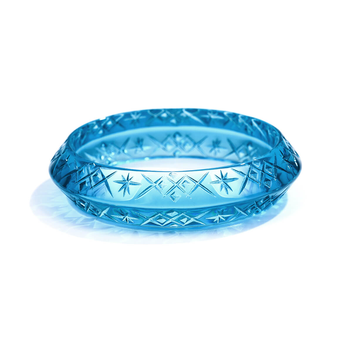 Round Edged Bangle Aqua