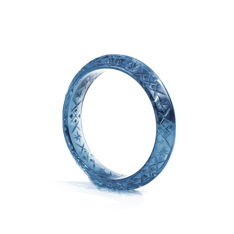 NEW IN Round Edged Bangle Classic Blue