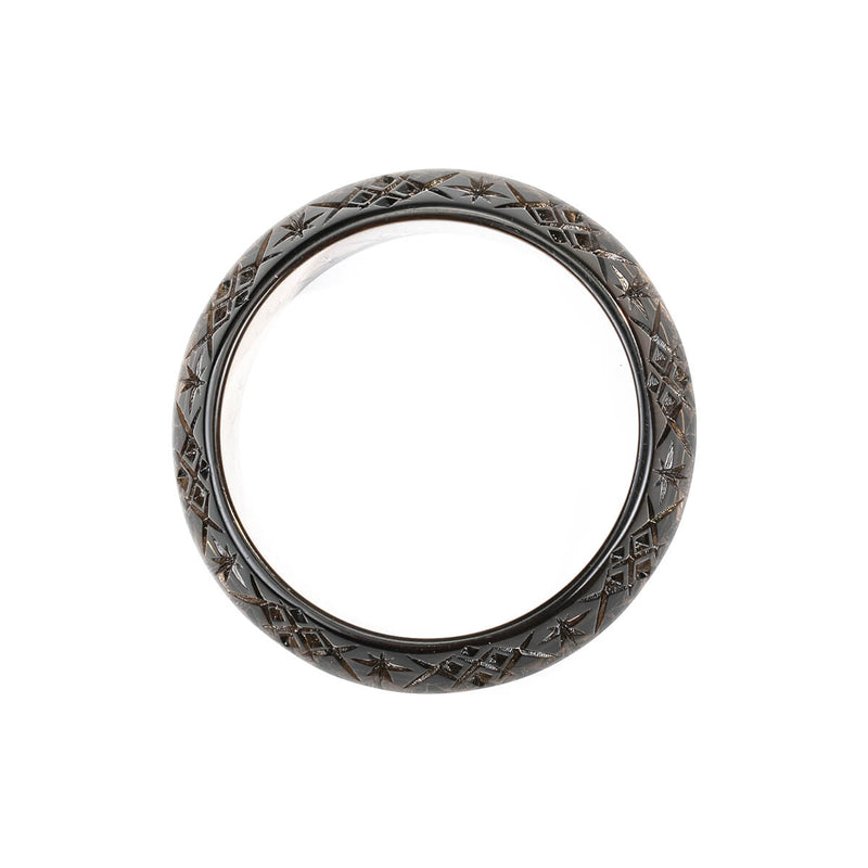 Round Edged Bangle Dark Grey