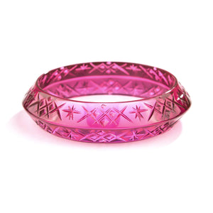 Round Edged Bangle Deep Purple