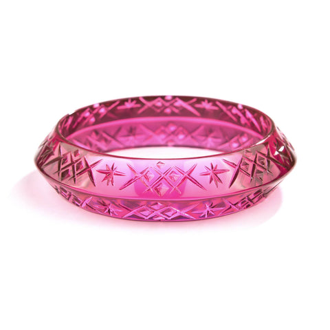 PRE-ORDER Round Edged Bangle Deep Purple