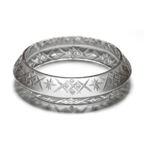 Round Edged Bangle Light Grey