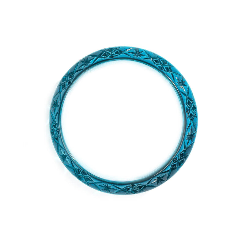 Wide Edged Bangle Aqua