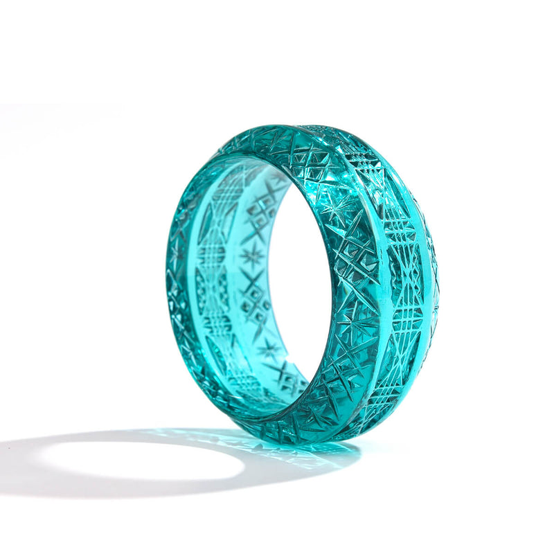 Wide Edged Bangle Turquoise