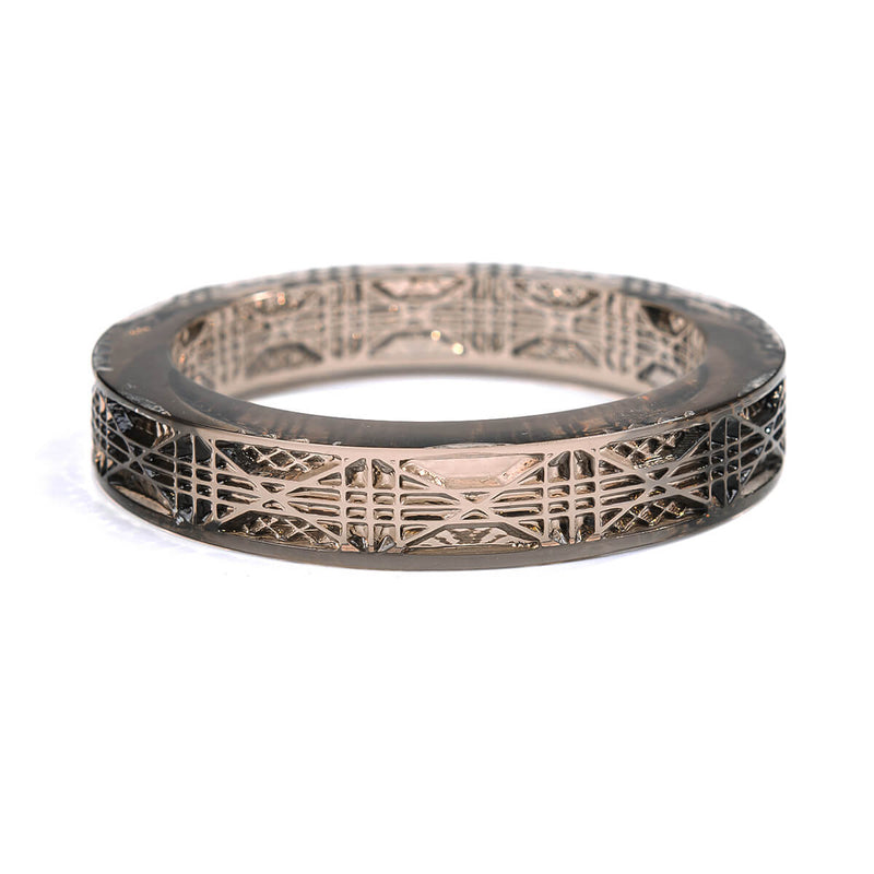 Cut Glass Bangle Dark Grey
