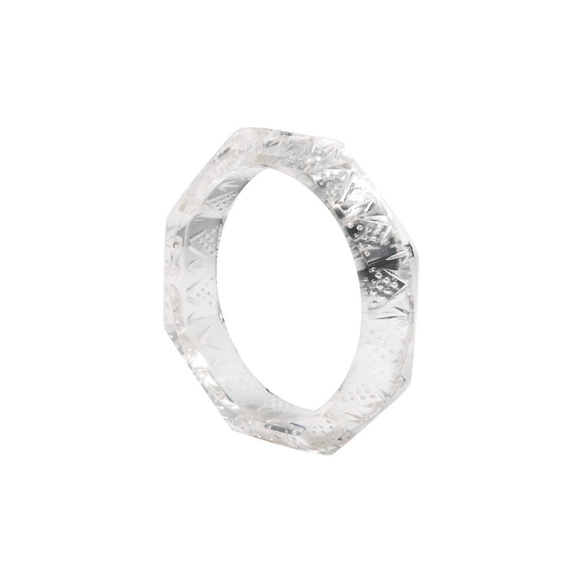 Octagon Edged Bangle Vintage Clear