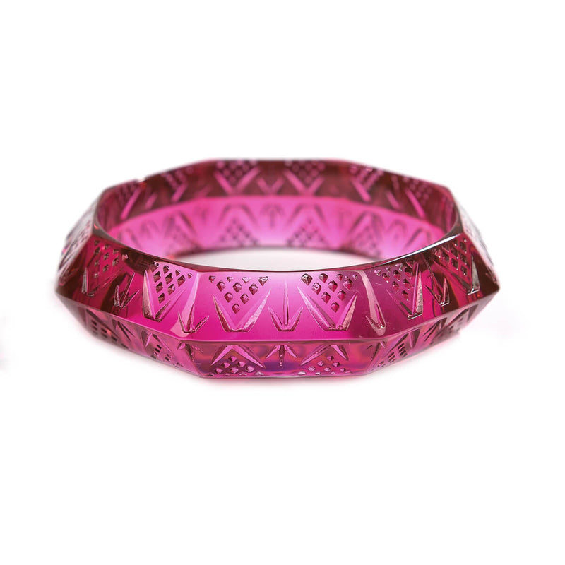 Octagon Edged Bangle Deep Purple