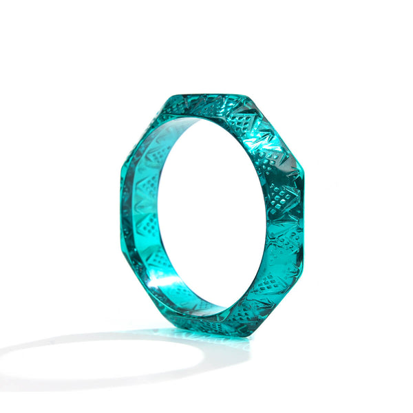 NEW IN Octagon Edged Bangle Turquoise