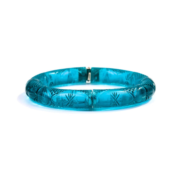 Etched Magnetic Cuff Aqua