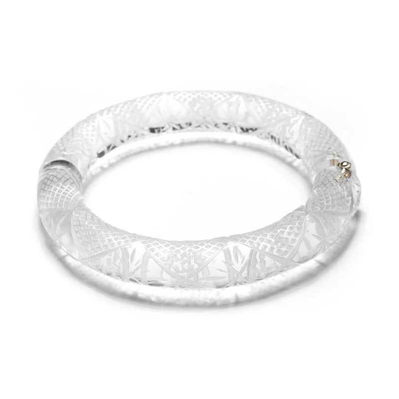 Etched Magnetic Cuff Vintage Clear