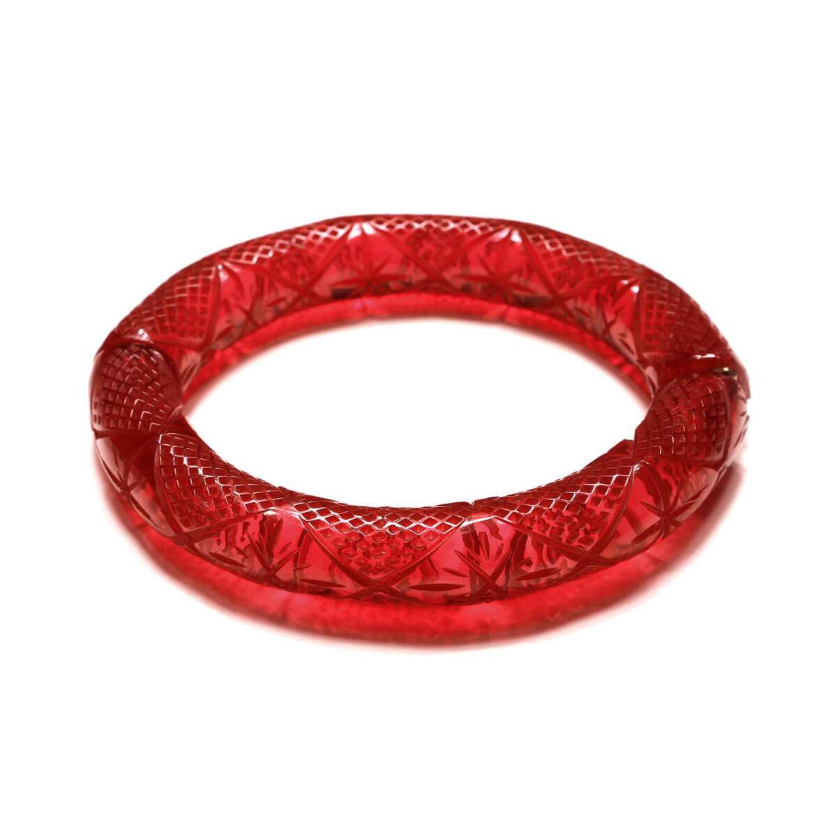 Etched Magnetic Cuff Burgundy