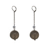 Frosted Ball Drop Earrings Dark Grey