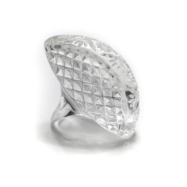 Etched Oval Ring