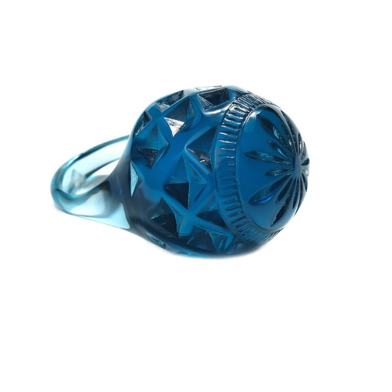 NEW IN Large Dome Ring Classic Blue