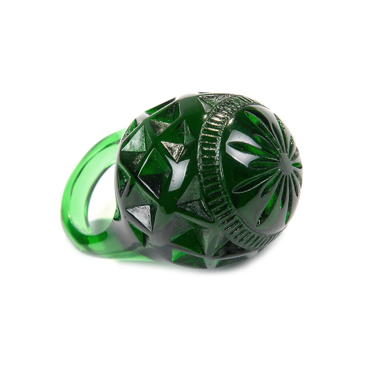 Large Dome Ring Emerald Green