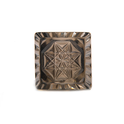 Etched Square Ring Dark Grey