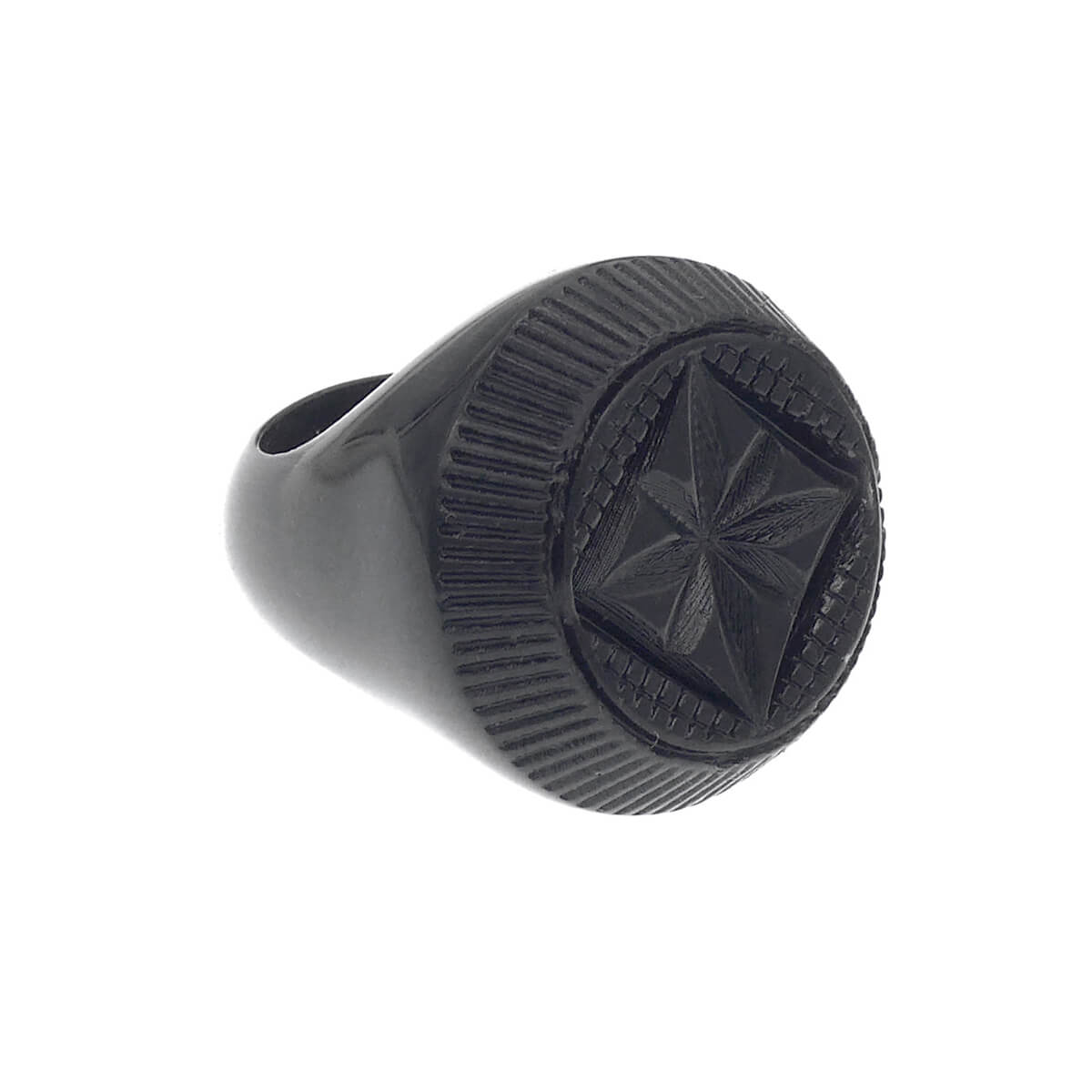Black Bottlestop Ring