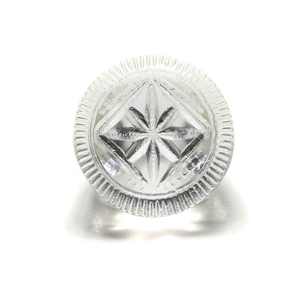 douglaspoon hand carved resin ring in vintage clear